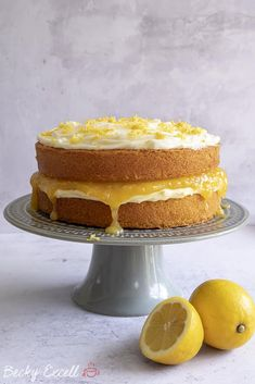 My Gluten Free Lemon Cake Recipe with homemade curd (dairy free, low FODMAP) Lemon Curd Cake, Lemon Sponge Cake, Lemon Curd Recipe, Lactose Free Recipes, Gluten Free Baking, Baking Recipes, Cake Recipes, Dessert Recipes, Desserts