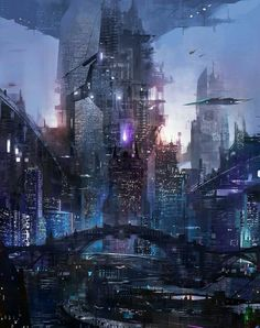 39 Ideas Science Fiction Cyberpunk Cityscapes For 2019 Cyberpunk City, Cyberpunk Kunst, Cyberpunk Aesthetic, Futuristic City, Futuristic Architecture, Sustainable Architecture, Neon Aesthetic, Cyberpunk Fashion, Aesthetic Drawing