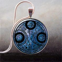 Time Lord Seal pendant, Dr Who necklace charm, Dr Who pendant Time Lord jewelry, time travel