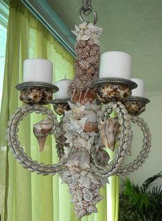 seashell chandelier.
