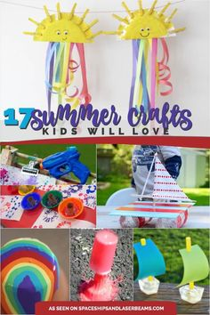 17 great summer crafts for kids seasons summer лето. Summer Crafts For Kids, Crafts For Boys, Summer Activities For Kids, Summer Kids, Craft Activities, Diy For Kids, Fun Crafts, Paper Crafts, Community Activities