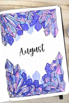 Need some monthly cover inspiration for the summer months! Check out the best bullet journal cover spread and page ideas for August! Bullet Journal School, August Bullet Journal Cover, Bullet Journal Month, Bullet Journal Cover Ideas, Bullet Journal Lettering Ideas, Bullet Journal Notebook, Bullet Journal Spread, Bullet Journal Ideas Pages, Journal Covers