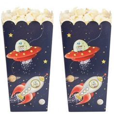 Space Adventure Party Popcorn Boxes