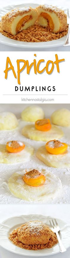 Apricot Dumplings - late spring and early summer dessert originating from Austria Desserts For A Crowd, Summer Desserts, Easy Desserts, Delicious Desserts, Easy Tiramisu Recipe, Austrian Recipes, Spring Recipes, Sweet Tooth, Pastries