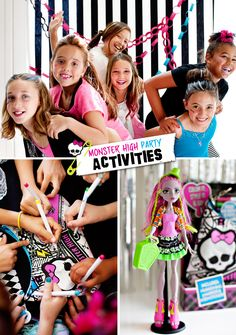 Monster High Party Photo Booth and Activities