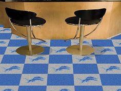 """NFL - Detroit Lions 18""""x18"""" Carpet Tiles"""