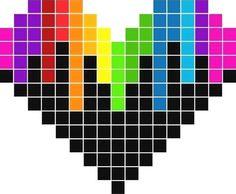 Les 16 Meilleures Images De Pixel Art Coeur En 2019