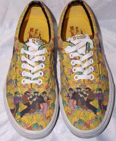 Vans Sneakers Beatles Yellow Submarine Tennis Shoes Mens 8 Womens 9.5 #VANS #Athletic