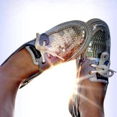 Sequined Sperry's