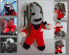 Corey Taylor Slipknot hand knitted by SassperellasEmporium on Etsy, €30.00