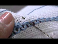 Nos artesanatos, Leila Jacob ensina a fazer Toalha de Lavabo em Ponto Crivo - parte 1
