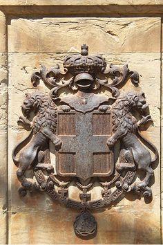 Rusty Iron Coat of Arms  #TuscanyAgriturismoGiratola