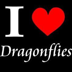 New Custom Screen Printed Tshirt I Heart Dragonflies