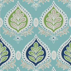 Charming wallcoverings from the 'Bridgehampton Midland' design style range by Thibaut Designs Wallpaper Direct, Green Wallpaper, Room Wallpaper, Fabric Wallpaper, Jouer Au Poker, Blue Wallpapers, Colorful Interiors, Fabric Design, Wall Decor