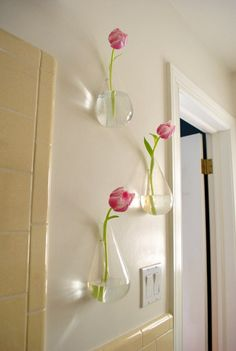 CB2 floating flower vases