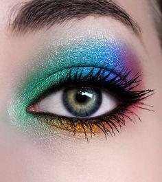 Rainbow  #eye makeup