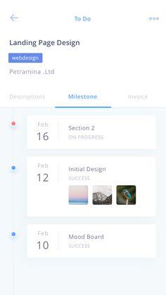 To do details projectmanagement anggityuniar milestone payment system design Timeline App, Timeline Design, Mobile App Design, Mobile App Ui, Web Design, App Ui Design, Interface Web, User Interface Design, Ui Kit