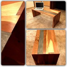 Reclaimed Redwood Coffee Table