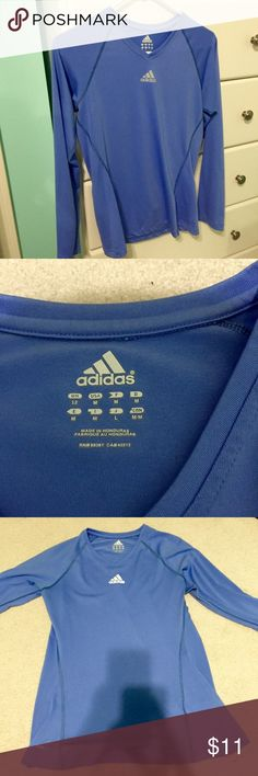 Adidas Climalite longsleeve workout top This shirt is in excellent condition, worn only a few times. Great for running outside in cooler weather or any exercise adidas Tops Tees - Long Sleeve