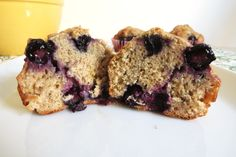 LOADED with Blueberries. Only 85 cals/muffin.