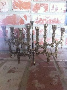 Cast Brass Israel Jerusalem THE WALL Menorah