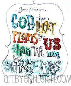 Inspirational Scripture Art Sometimes God Has by artbyerinleigh