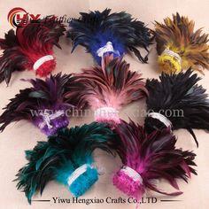 Koop 100 stks/partij goedkope fazant veer, 4-6inch10-15cm, natuurlijke kleur en geverfd haan veren DIY sieraden accessoires