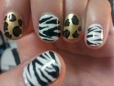 butterfly toe nail art designs   Handpainted Zebra Nail designs Safari Nails Nailart Designs