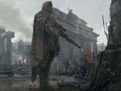 World War 2 Series - Gunman: Step by step, James Paick on ArtStation at https://www.artstation.com/artwork/world-war-2-series-gunman-step-by-step