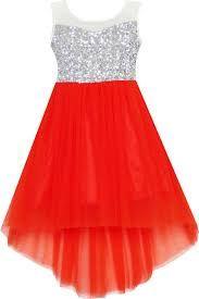 Resultado de imagen para vestidos para niña de 12 años mitad rojo y blanco