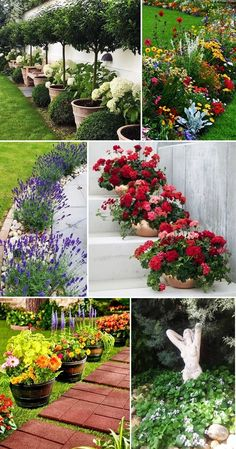 MENTŐÖTLET - kreáció, újrahasznosítás: Virágos kert Front Yard Garden Design, Garden Yard Ideas, Diy Garden Projects, Lawn And Garden, Garden Whimsy, Garden Deco, Landscaping With Rocks, Backyard Landscaping, Front Yard Flowers