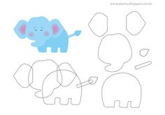 Friends of the Felt: Erica Catarina Safari Template Quiet Book Templates, Felt Templates, Applique Templates, Applique Patterns, Card Templates, Felt Animal Patterns, Stuffed Animal Patterns, Felt Diy, Felt Crafts