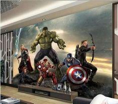 Marvel Avengers 4 Movie Poster 3D Stereo Iron Man Wallpaper Wall Sticker Dorm Chambre