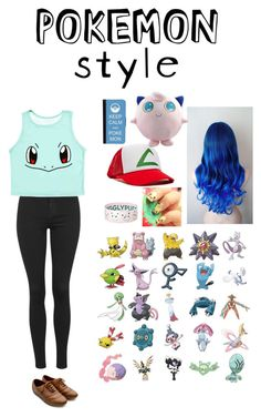 """""""I FREAKING LOVE POKEMON!!!!!"""" by pretty-reject ❤ liked on Polyvore featuring Topshop, CellPowerCases and Ollio"""