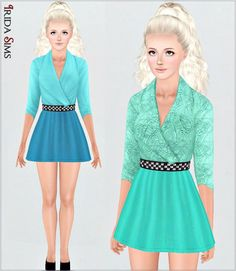 Dress 27-I by Irida - Sims 3 Downloads CC Caboodle