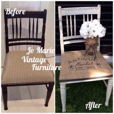 Refurbished painted vintage chair, Rustic country look  www.facebook.com/Jomarievintagefurniture
