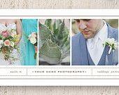 Wedding Photographer Facebook Timeline Template - Blog Banner Design - Digital Photoshop Templates - Instant Download - m0089