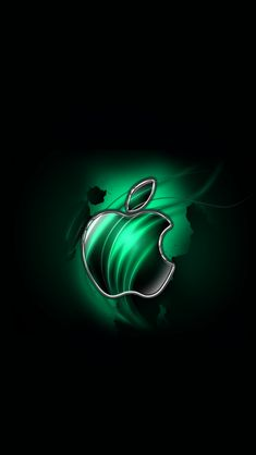 Download Swirly Apple-Green 640 x 1136 Wallpapers - 4608815 - Apple Logo | mobile9