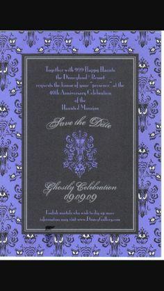 Haunted mansion invitations