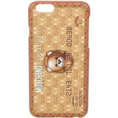 Pre-owned Moschino iPhone 6 Phone Case (63 CAD) ❤ liked on Polyvore featuring accessories, tech accessories, brown and moschino