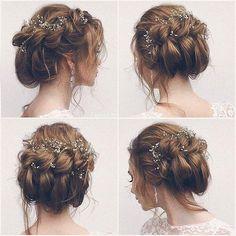 Frisuren hochzeit accessoires cheveux pour hair in 2019 идеи для волос, иде Wedding Hair And Makeup, Bridal Hair, Hair Makeup, Bridal Gown, Hair Wedding, Hairstyle Wedding, Wedding Shoes, Wedding Favors, Wedding Invitations