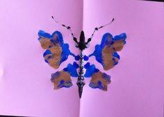 Farfalla - Forme astratte con la tempera.