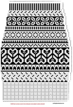 Mustavalkoiset pitkät villasukat - Puikot ja kerä lankaa Loom Knitting Patterns, Knitting Charts, Knitting Designs, Knitting Stitches, Knitting Tutorials, Stitch Patterns, Vintage Knitting, Lace Knitting, Knitting Socks