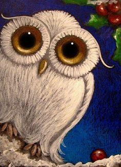 Google Image Result for http://www.ebsqart.com/Art/Gallery/AcrylicsColored-PencilsPastels/559404/650/650/FANTASY-WHITE-BABY-SNOWY-OWL-MISTLETOE.jpg