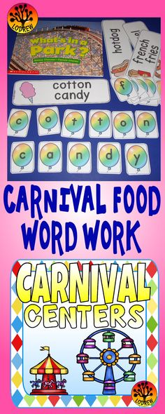 carnival centers activities amusement park literacy math preschool k summer