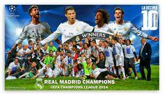 Real Madrid Winners Champions League 2014 HD desktop wallpaper