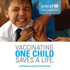 Vaccinating one child saves a life. Vaccinating every child stops disease in its tracks. Special Needs, Worlds Of Fun, Health Care, United States, Facts, Goals, Children, United Nations, Life