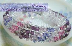 Dazzling Donut Crystal Bracelet   AllFreeJewelryMaking.com