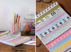 Washi-tape notebook