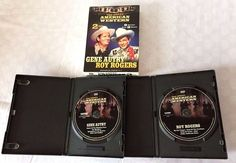 2 DVD Box Set ~ Gene Autry & Roy Rogers - The Great American Western ~ 9 movies